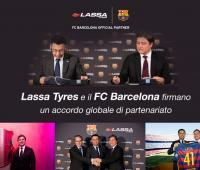 LASSA TYRES PARTNER ESCLUSIVO GLOBALE DI FC BARCELONA E PARTNER PRINCIPALE PER GLI SPORT INDOOR