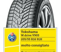 Il pneumatico Yokohama W.drive V905 supera i test pneumatici invernali