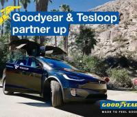Pneumatici Goodyear l'accordo con Tesloop per auto elettriche