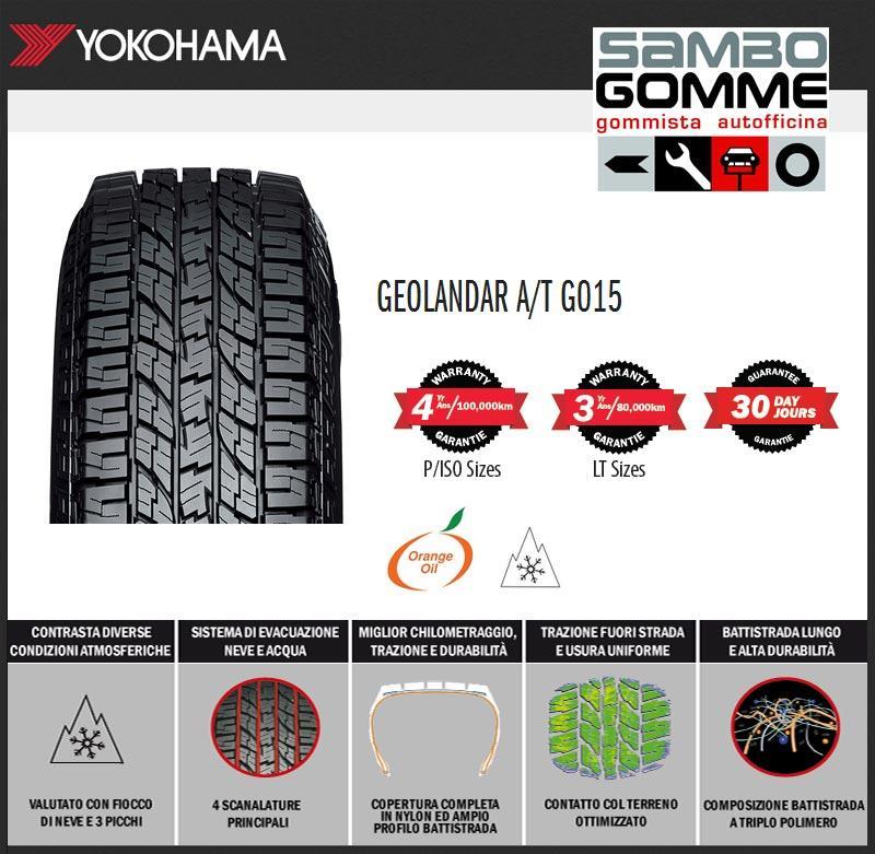 Nuovo pneumatico yokohama fuoristrada geolandar