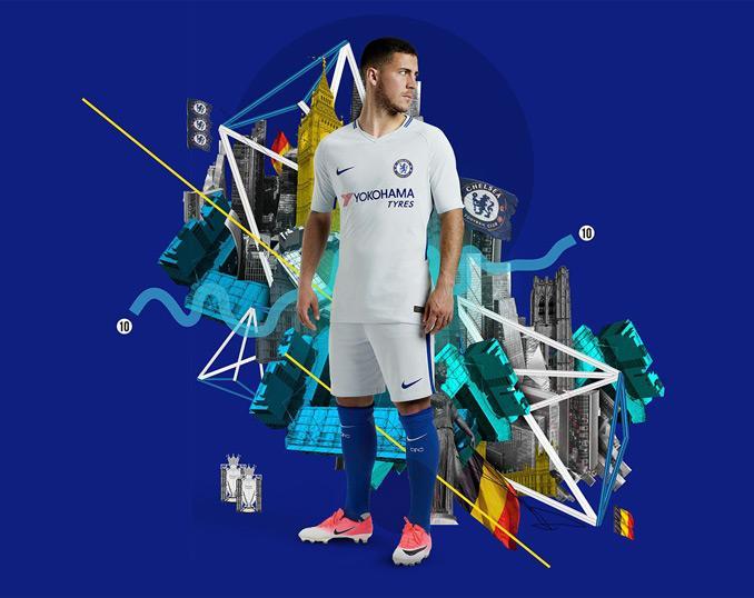 Seconda maglia Chelsea 2017-2018 con Yokohama e NikeMaglia Chelsea 2017-2018 con Yokohama e Nike